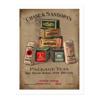 Chase & Sanborn's Tea Postcard