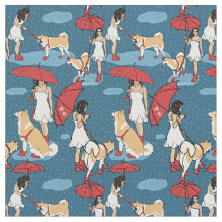 Chase the clouds away fabric