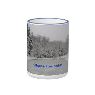 Chase the cold! coffee mug