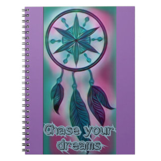 Chase your dreams inspirational dream catcher notebook