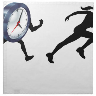 Chased by the Clock Time Pressure Napkin