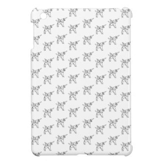 Chasin' Unicorns Geometric Crystal Unicorn Pattern Cover For The iPad Mini
