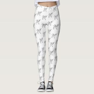 Chasin' Unicorns Geometric Crystal Unicorn Pattern Leggings