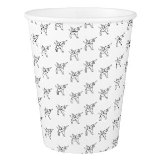 Chasin' Unicorns Geometric Crystal Unicorn Pattern Paper Cup