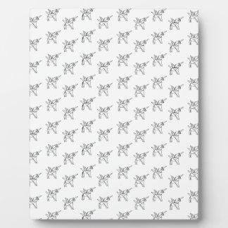 Chasin' Unicorns Geometric Crystal Unicorn Pattern Plaque