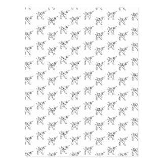 Chasin' Unicorns Geometric Crystal Unicorn Pattern Postcard