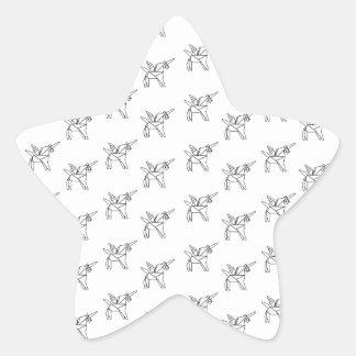 Chasin' Unicorns Geometric Crystal Unicorn Pattern Star Sticker