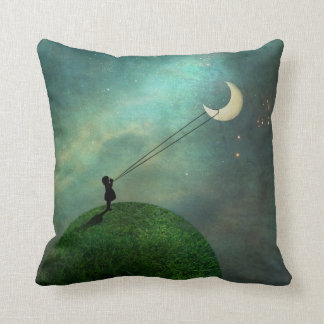 Chasing the moon Pillow