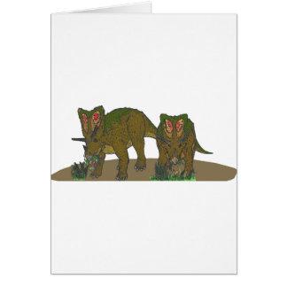 Chasmosaurus browsing greeting card