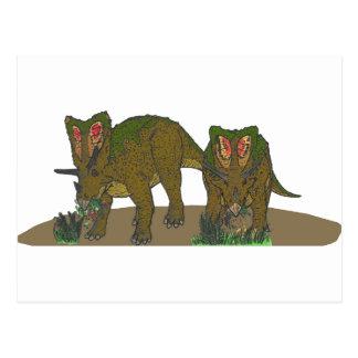 Chasmosaurus browsing postcard