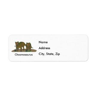 Chasmosaurus Return Address Label