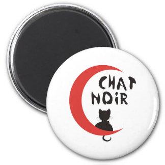 CHAT NOIR 6 CM ROUND MAGNET
