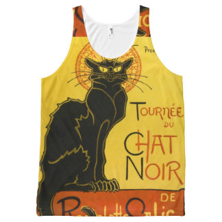 Chat noir All-Over print tank top