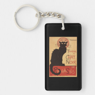 Chat Noir Cabaret Troupe Black Cat Promo Poster Acrylic Key Chain
