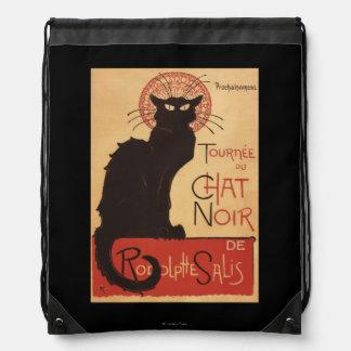 Chat Noir Cabaret Troupe Black Cat Promo Poster Drawstring Backpacks