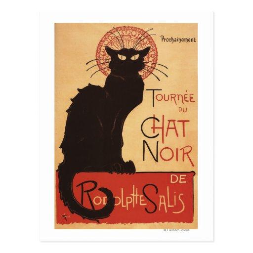 Chat Noir Cabaret Troupe Black Cat Promo Poster Post Card