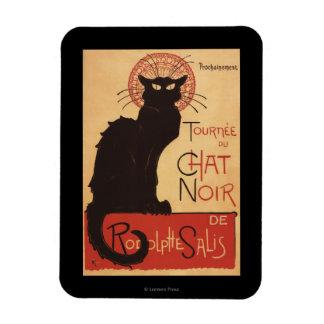 Chat Noir Cabaret Troupe Black Cat Promo Poster Rectangular Photo Magnet