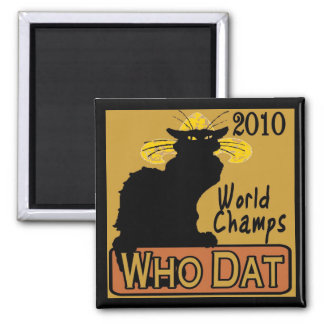 Chat Noir Champs Poster Square Magnet