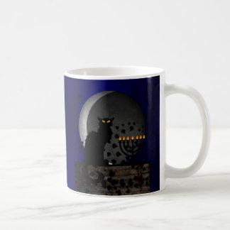 Chat Noir Chanukah Coffee Mug
