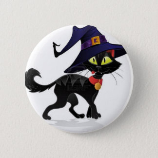 Chat noir Halloween 6 Cm Round Badge