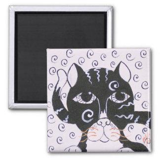 Chat  Noir Square Magnet