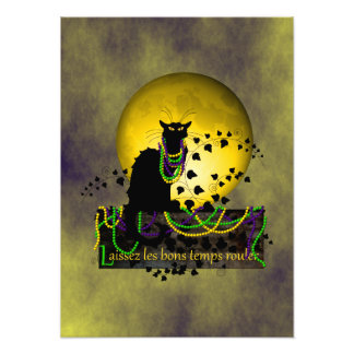 Chat Noir Mardi Gras Photo Print