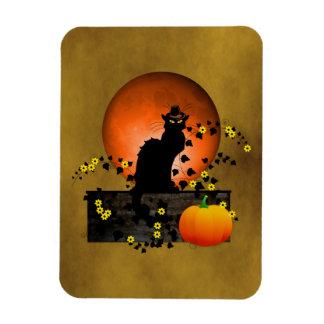 Chat Noir Thanksgiving Rectangular Photo Magnet