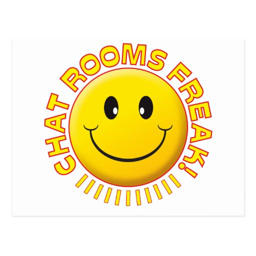 Chat Rooms Freak Smile Postcard
