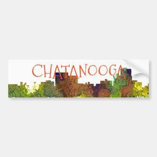 Chatanooga Tennessee Skyline Safari Buff Bumper Sticker