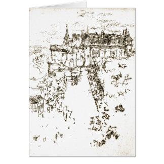Chateau Amboise 1890 Greeting Card