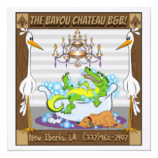 Chateau Bayou in New Iberia Card