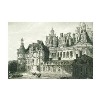 Chateau Chambord Historic Engraving Thomas Allom Canvas Print