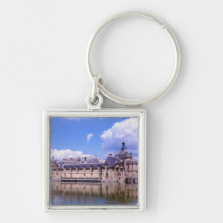 Chateau Chantilly, Oise, France Silver-Colored Square Key Ring