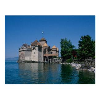 Chateau Chillon, Lake Geneva, Vaud Canton, Postcard