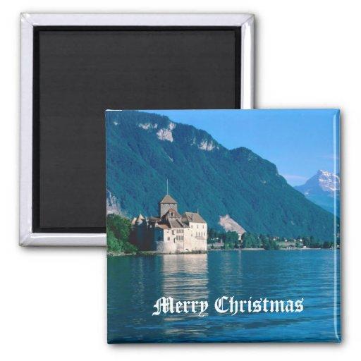 Chateau Chinon, beside Lake Geneva 2 Magnets