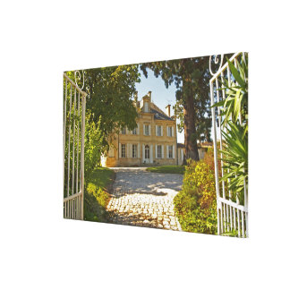 Chateau Cos Labory in Saint St Estephe, wrought Gallery Wrap Canvas