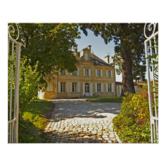 Chateau Cos Labory in Saint St Estephe, wrought Poster