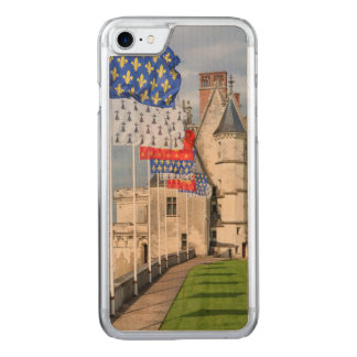 Chateau d'Amboise and flag, France Carved iPhone 8/7 Case