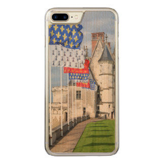 Chateau d'Amboise and flag, France Carved iPhone 8 Plus/7 Plus Case