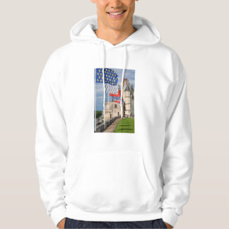 Chateau d'Amboise and flag, France Hoodie