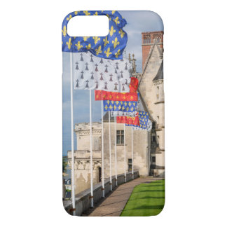 Chateau d'Amboise and flag, France iPhone 8/7 Case