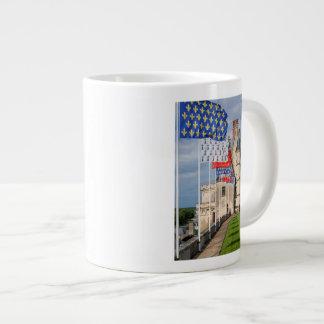 Chateau d'Amboise and flag, France Large Coffee Mug