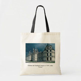 Chateau de Chambord, begun in 1519, under Francis Tote Bag