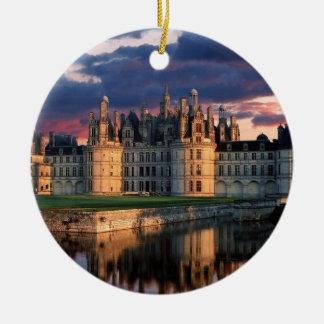 chateau de chambord Castle,Loire Valley, France Ceramic Ornament