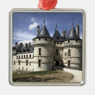 Chateau de Chaumont-Sur-Loire. Silver-Colored Square Decoration