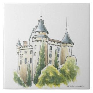 Chateau de Mercues, France Ceramic Tile