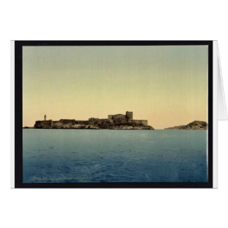 Chateau d'If, from the sea, Marseilles, France vin Card