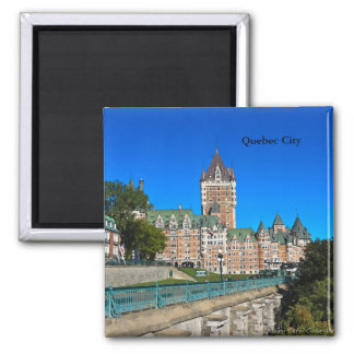 Chateau Frontenac in Quebec City Square Magnet