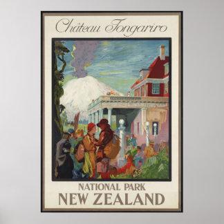 Chateau Tongariro New Zealand Poster