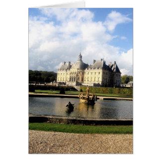 Chateau-Vaux-le-Vicomte, France Card
